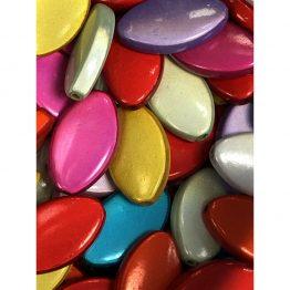 Flat oval beads